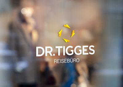 Logodesign für das Reisebüro Dr. Tigges